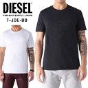 ディーゼル メンズ DIESEL Tシャツ ロゴ ブレイブマン モヒカン半袖 トップス T-JOE-BB シンプル WHITE ホワイト 白 BLACK ブラック 黒