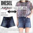 DIESEL ディーゼル レディース ショートパンツ デニム ジーンズKAWAII-NE 0604Z jogg jeans ジョグジーンズ ストレッチリボンベルト 共布ベルト