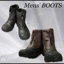 濡れた路面でも滑りにくいラバーソール使用メンズ防寒ブーツ/雪 シューズ 男性用 防寒靴【RCP】