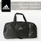 adidas3STRIPESPERFORMANCEMEDIUMTEAMBAGBLACKAJ9993アディダススポーツバッグブラック3ストライプパフォーマンスミディアムチームダッフルバッグ