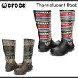 【超目玉 残り僅か!】レディース クロックス サーマルーセント ブーツ Crocs Thermalucent Boot ブーツ 長靴 レインブーツ