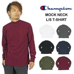 【SALE★40%OFF】Champion チャンピオン モックネック長袖Tシャツ メンズ ロングスリーブ ロンT Mock Neck C3-S402 TC