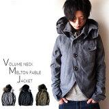 ジャケット メンズ メンズ メルトン ウール Pコート ピーコート ミリタリー ファーブルジャケット モッズコート 変形 メンズジャケット デザインジャケット