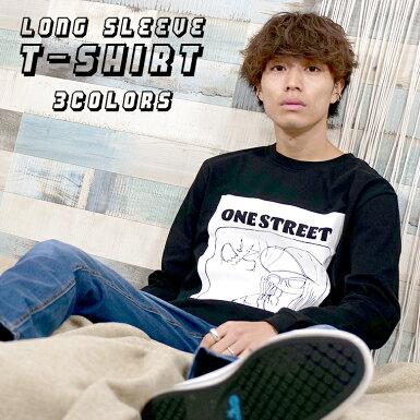 3colorsロングスリーブTシャツONESTREETロゴ