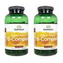 【楽天海外直送:日時指定不可】スワンソン スーパーストレス・B-コンプレックス+ビタミンC 240錠 2本Swanson SuperStressB-Complex(w/VitaminC):ヤマト国際便発送