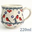 【ポーランド陶器・食器】マニュファクトゥラ社マグカップS 0.22L K52-GILE 赤い鳥 ポーリッシュポタリー ポーランド食器
