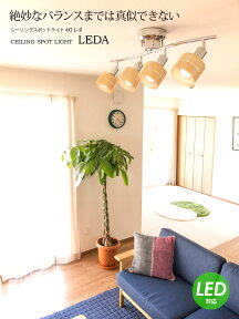 シーリングライト1年保証付LED対応スポットライト4灯レダ[Leda]|天井照明照明器具和室和風ウッド北欧寝室リビング用居間用ダイニング用食卓用送料無料インテリアライト電気おしゃれシーリングオシャレ照明リビングライトスポット