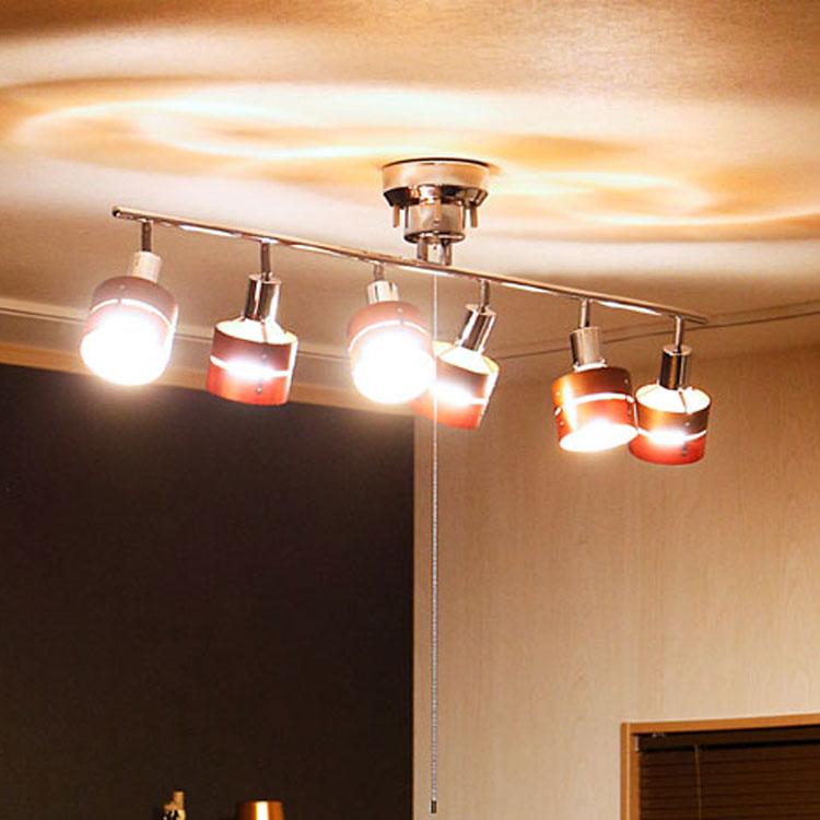 シーリングライト 6灯 LED対応 レダ シックスボーベル|照明 ライト スポットライト おしゃれ 6畳 8畳 10畳 12畳 天井照明 照明器具 間接照明 プルスイッチ E26 ウッド 木 北欧 リビング用 ダイニング用 電気 シーリング 子供部屋 テレワーク ブラウン ホワイト ナチュラル
