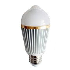LED電球 【レビューで送料無料 ポイント2倍】 人感センサー付 E26 人感センサー 電球色 昼白色 ...