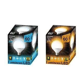 LED電球 60W相当 G型ボール球 E26
