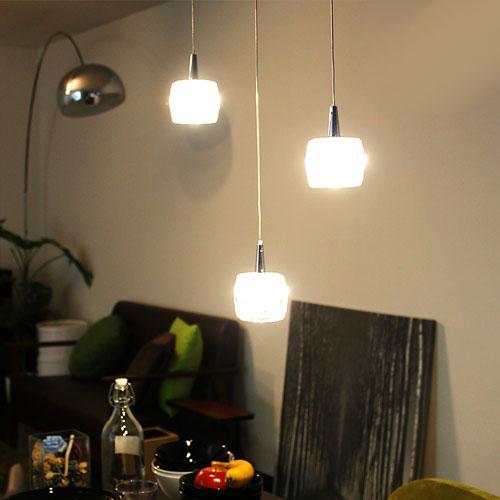 LEDペンダントライト ガラスキューブ ペンダントライト ソリッド 3灯タイプ cc-41190 ...