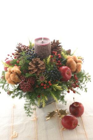 ■BeautifulBoyがお届けする【クリスマス限定商品】!キャンドルアレンジメントトラッドレッド