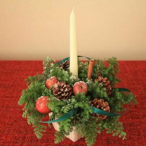 ■BeautifulBoyがお届けする【クリスマス限定商品】!キャンドルアレンジメントクリーミーホワイトMサイズ