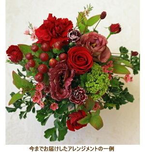 誕生日結婚記念日お見舞い開店ビジネス開業改築新築お祝いなど季節のお花を使ったアレンジメント!!Berry/ベリー(トラッドレッド)10P21Jul09