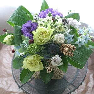誕生日結婚記念日開店ビジネス開業改築新築お祝いお見舞いお悔やみなど季節のお花を使ったアレンジメント!!Berry/ベリー(パウダーブルー)10P21Jul09