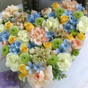 誕生日結婚記念日お見舞い開店ビジネス開業改築新築お祝いなど季節のお花を使ったフラワーケーキアレンジ!!PureHeart(LargeSize)ピュアハート/ラージサイズ10P21Jul09