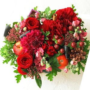 【ビジネス開業祝い開店オープン歓迎・退職用・移転祝い・結婚祝い】などに季節のお花を使って、ご指定日にお届けするフラワーケーキ!!(赤レッド)10P21Jul09