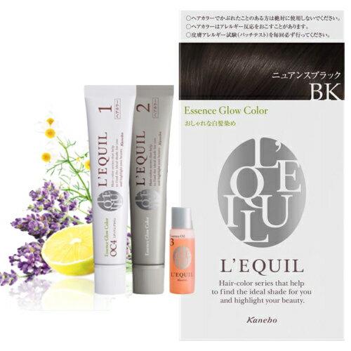 カネボウkaneboリクイールL'EQUIL3個セットエッセンスグローカラーBKニュアンスブラック/ヘアカラー白髪染め市販白髪目立たないカラーおすすめ人気女性