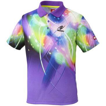 【ニッタク】 ダンデリオンシャツ 卓球ウェア [カラー:パープル] [サイズ:XO] #NW-2170-50 【スポーツ・アウトドア:卓球:ウェア:メンズウェア:シャツ】
