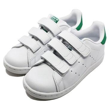 【アディダス】 アディダス スタンスミス CF I [サイズ:15.5cm (US9K)] [カラー:ホワイト×ホワイト×グリーン] #M20609 【靴】【M20609】