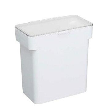 【山崎実業】 tower 密閉袋ごと米びつ 5kg ホワイト 【キッチン用品:容器・ストッカー・調味料入れ:米びつ:プラスチック製】