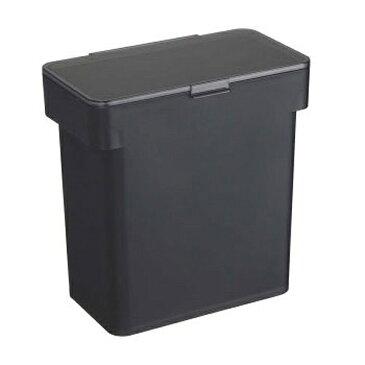 【山崎実業】 tower 密閉袋ごと米びつ 5kg ブラック 【キッチン用品:容器・ストッカー・調味料入れ:米びつ:プラスチック製】