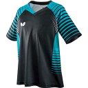 【バタフライ】 ネオルド・シャツ [サイズ:2XO] [カラー:ブラック/スカイ] #45450-903 【スポーツ・アウトドア:卓球:ウェア:メンズウェア:シャツ】