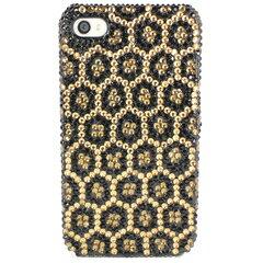 【最大10%offクーポン(要獲得) 2/7 20:00〜2/12 9:59まで】 iPhone SE iPhone 5s デコケース ラインストーン 豹柄 ゴールド 【iPhoneSE / iPhone5s: 電化製品 スマートフォン スマートフォンアクセサリー】