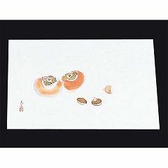 【マイン】 四季紙 萬寿(100枚入) M33-121 柿と栗 【キッチン用品:雑貨:ランチョンマット】【四季紙 萬寿(100枚入)】