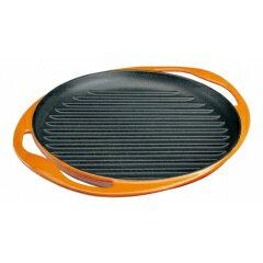 【送料無料】【ル・クル−ゼ】ル・クル−ゼグリル・ロンド25cm20125オレンジ【キッチン用品:調理用具・器具:グリルパン】
