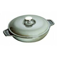 【送料無料】ストウブラウンドホットプレート20cmグレー40509-578【ストウブ:キッチン用品:調理用具・器具:両手鍋:~20cm:IH/ガス両方対応】