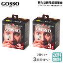 (ミニサイズ)(2個セット) GOSSO ゴッソ 3回分 ブラジリアンワックス 鼻毛脱毛キット (送料無料)
