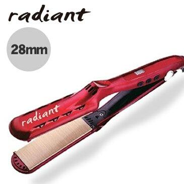 【送料無料】シルクプロアイロン ラディアント アイロンプレート28mm (レッド) ストレート くせ毛 おすすめ 人気 美容 まっすぐ ダメージレス