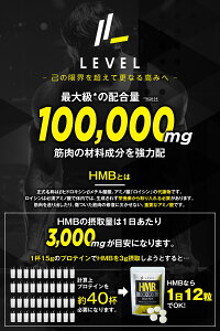 LEVELFITHMBEAAアルギニンサプリ100000mg【アンチドーピング認証】360粒1袋