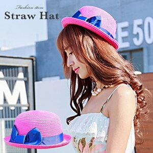麦わら帽子 むぎわら 中折れ帽子 UV紫外線対策 日よけ 帽子 レディース 女性用 大きいサイズ 女優帽 宅配便発送