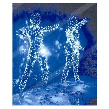 電飾 装飾 ライト LIGHT 電飾 飾りつけ ディズプレイ インテリア クリスマス 小物 置物 吊り下げ 式 白 ピンク 青 紫 レインボー 電池式 単三電池3本(別売り)体に巻く ダンス 衣装 持ち運び 自由 ハロウィン ダンス 点滅 点灯 パープル ブルー