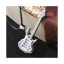H5.8cm ギター モチーフ 紐 ネックレス 可愛い かわいい きれいめイベント ダンス メンズ レディース アクセサリー アクセ楽器 がっき ガッキ ぎたー ギター