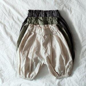 リネン アラジンパンツ ゆったり サルエルパンツ ジョガーパンツ ベビー キッズ 韓国ベビー服 パンツ 夏 女の子 男の子 子供 韓国子供服 7分丈 韓国こども服
