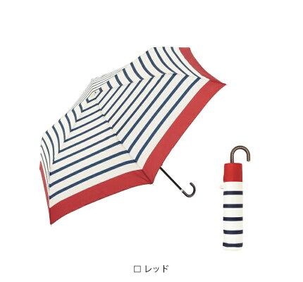 【because/公式】リムカラーボーダーミニ【折りたたみ傘/雨傘/雨晴兼用/コンパクト/UVカット/ギフト/レディース/ビコーズ】
