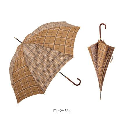 【because公式】2トーンチェック【長傘/雨傘/UVカット/レディース/通勤/通学/ビコーズ】