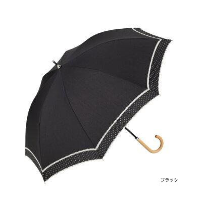 【because/公式】ピンドットダブルピコレース【紫外線遮蔽率90%以上/綿/長傘/日傘/晴雨兼用/UVカット/ギフト/レディース/ビコーズ】