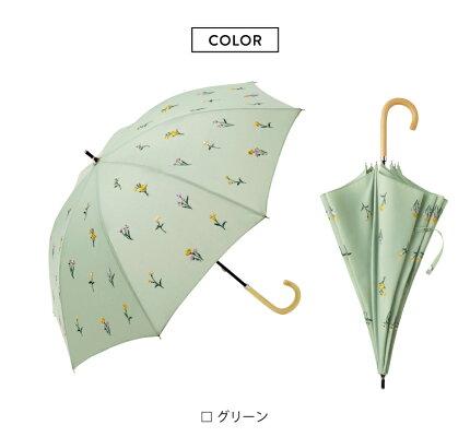 【because公式】ボタニカル刺繍【紫外線遮蔽率90%以上/晴雨兼用/日傘/UVカット/熱中症対策/レディース/通勤/通学/ビコーズ】