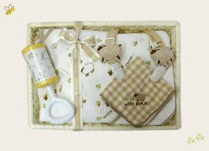WISH BORN オーガニックコットン お食事 セット WS-4 ヒツジ ベビー用品 出産祝い おしゃれ かわいい 日本製 女の子 男の子 赤ちゃん