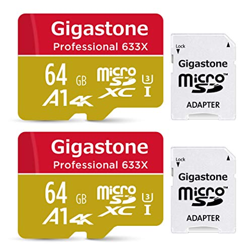 パソコン・周辺機器, その他 5 Gigastone Micro SD Card 64GB SD UHS-I U3 Class 10 100MBS Nintendo Switch