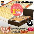 □最上位クラスウッドスプリング搭載 ベッドフレーム セミダブル ダークブラウンのみ JN3403アステール ウッドスプリング 収納付き 木製ベッド フレームのみ 【RCP】