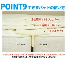 【送料無料】すきまパッドファミリーサイズ2台のつなぎ目をうめるベッド用すきまパッドすきまスペーサー段差がなくなる【プライオリティ対応】【1年保証】