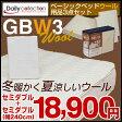 【送料無料】ベーシックベッド用品3点セット マットレスカバー ウールベッドパッド 3点セット 【セミダブル+セミダブル】2台用 GBW3 キナリ SD+SD-GBW3 【時間指定対応】