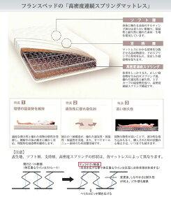 フランスベッドスプリングマットレスDTー030新Z型スプリング防ダニ抗菌防臭加工【送料無料】