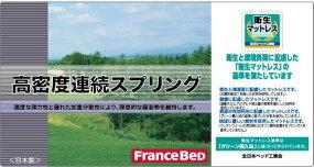 フランスベッド製新Z型高密度連続スプリングマットレスダブル日本製Z型スプリングマット新型Z-HIフランスベッドスプリング防ダニ抗菌防臭加工フランスベッドコイルマットレス