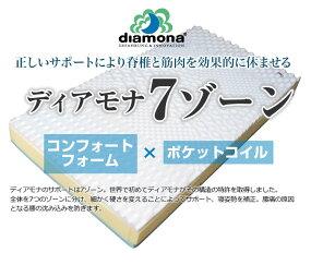【送料無料】ディアモナ7ゾーンポケットコイルとコンフォートフォームの融合ドイツ製マットレスブルーアクティブH2